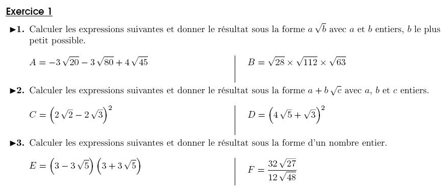 Calcul littéral (5) - exercices corrigés 3ème